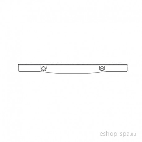 Bazénová mřížka TOP rovná - tvar V