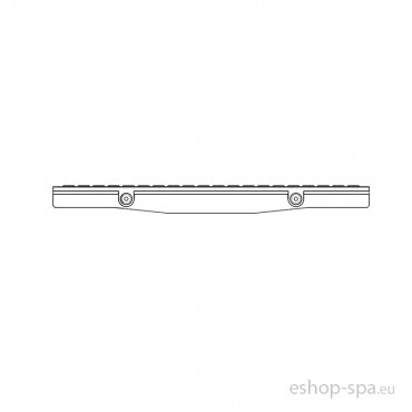 Bazénová mřížka TOP rovná RAL - tvar V